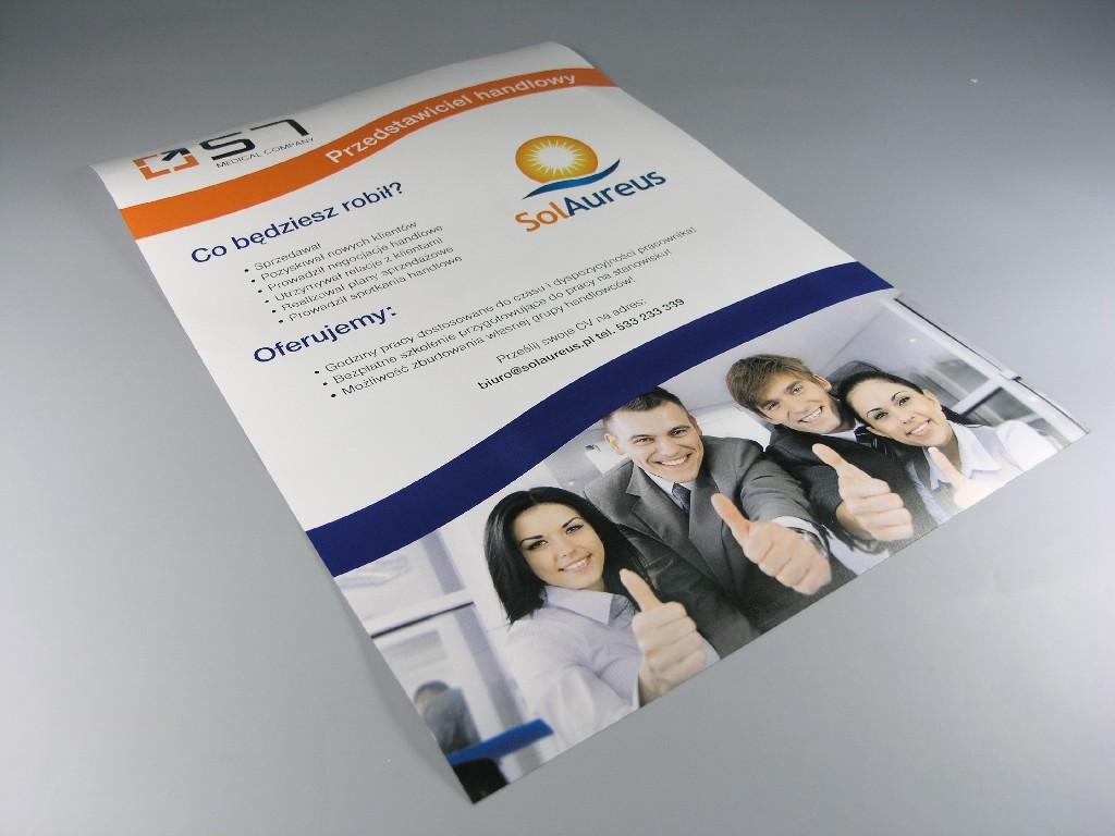 Plakaty standardowe drukowane cyfrowo